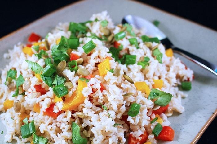 Arroz con Verduras Vegano