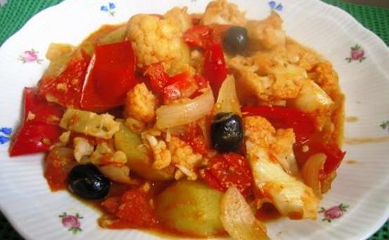 Coliflor a la Portuguesa Recetas Vegetarianas
