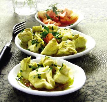 Ensalada de alcachofa con mostaza