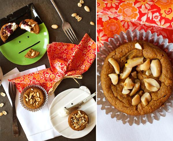 Muffins de Calabaza y Mantequilla de Maní