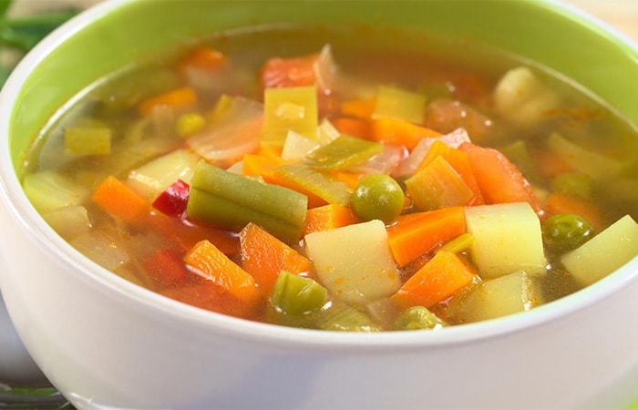 Receta de Sopa Jardinera Vegan