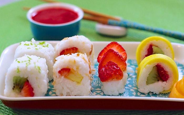 Receta de Sushi de Frutas Vegetariano