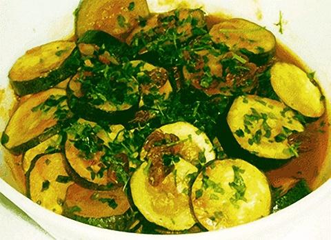 Zucchini estilo Griego